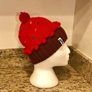 c3d74a68d908c Neff Accessories - Neff Red cupcake w sprinkles knitted hat